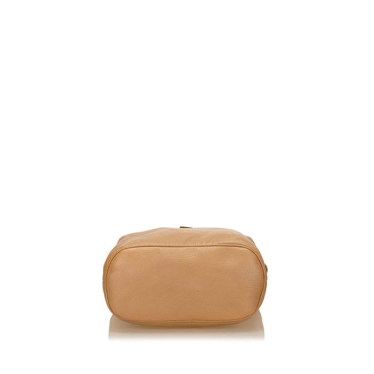 Women's or Men's Jimmy Choo Brown Leather Shoulder Bag For Sale