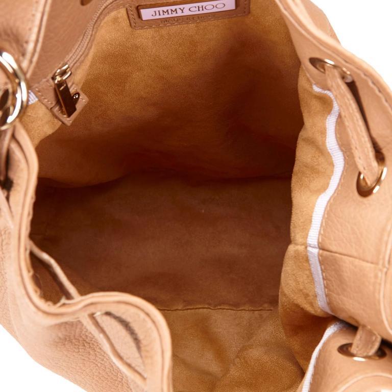 Jimmy Choo Brown Leather Shoulder Bag For Sale 1