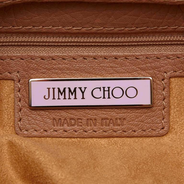 Jimmy Choo Brown Leather Shoulder Bag For Sale 2