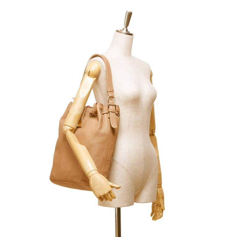 Jimmy Choo Brown Leather Shoulder Bag For Sale 3