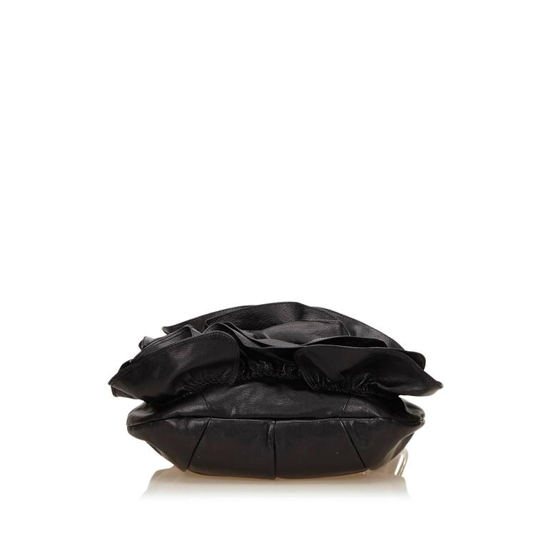 3677abc5897d YSL black Leather Nadja Rose In Good Condition For Sale In Orlando