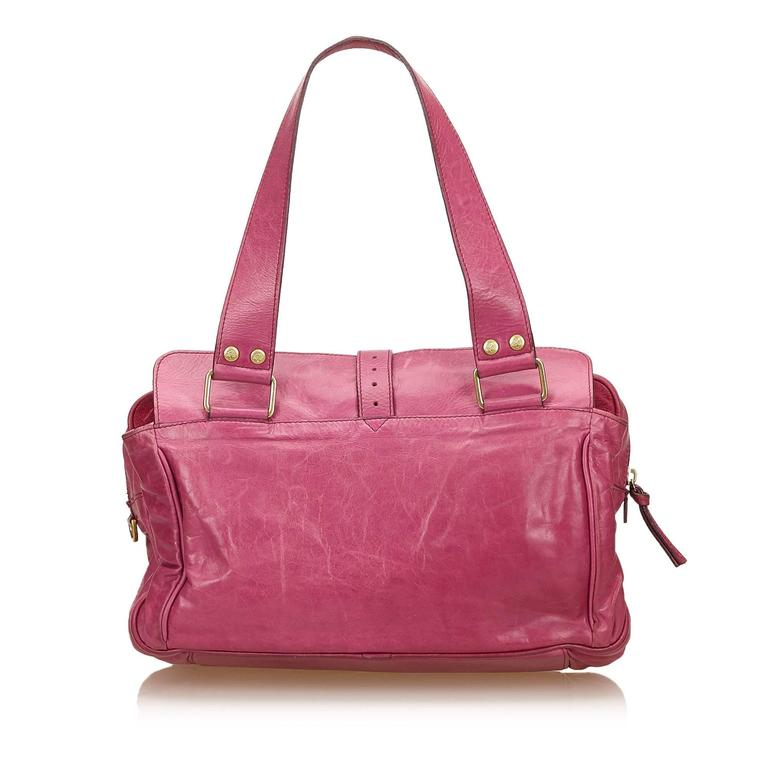 Mulberry Pink Leather Shoulder Bag In Good Condition For Sale In Orlando 258955d545cd2