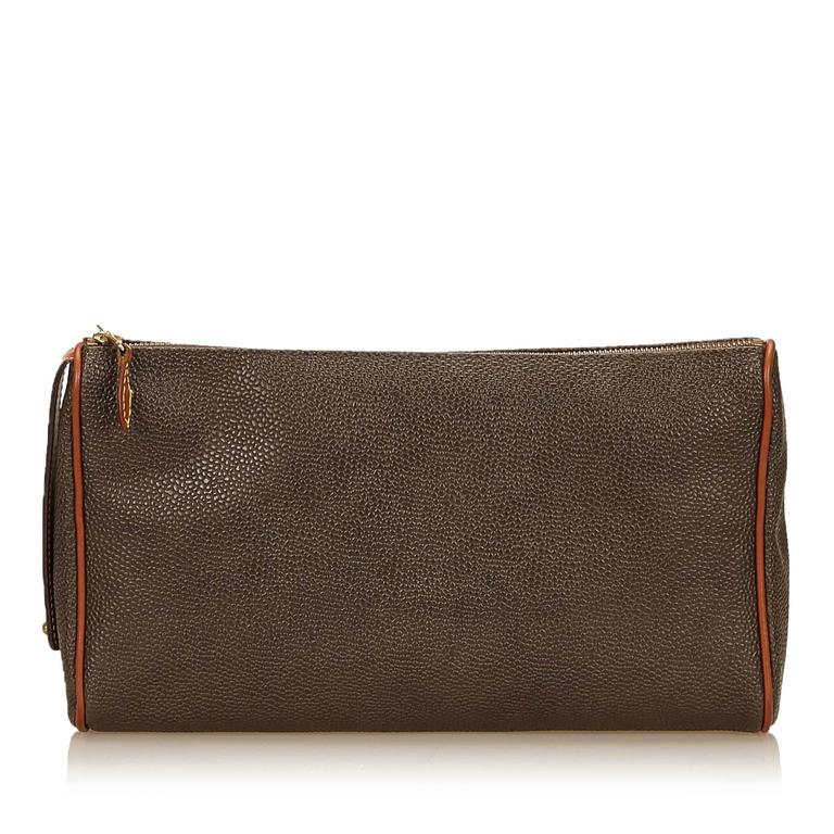 58c5b3968213 Mulberry Brown PVC Clutch Bag For Sale at 1stdibs