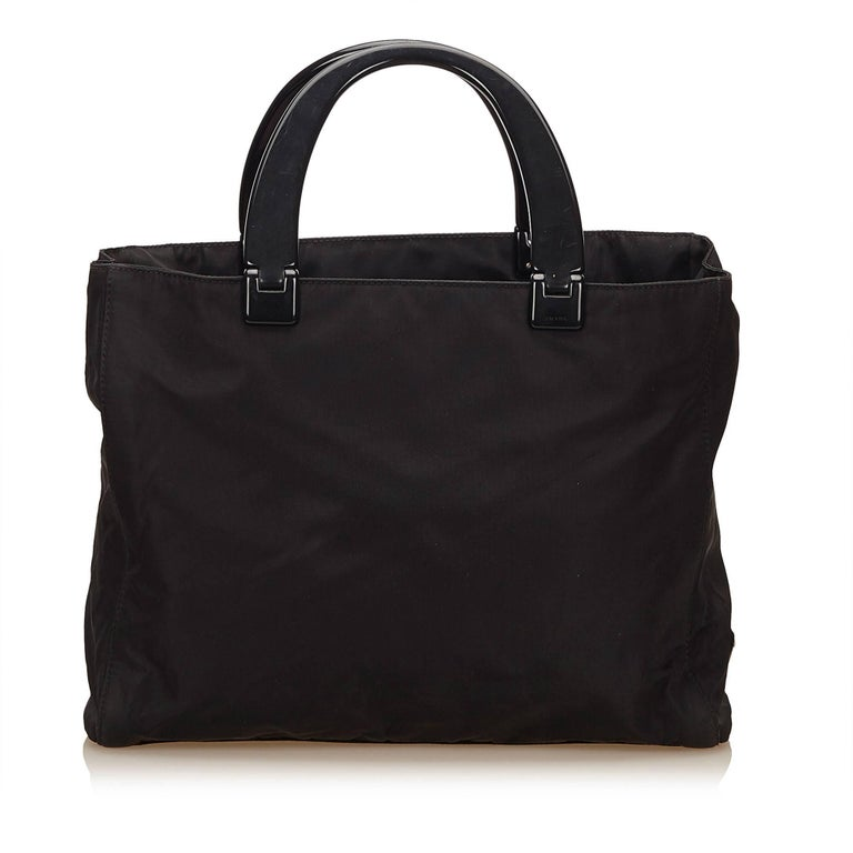 Prada Black Nylon Handbag 3