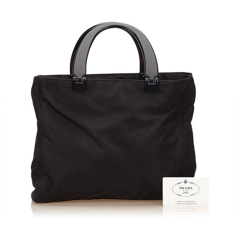 Prada Black Nylon Handbag 7