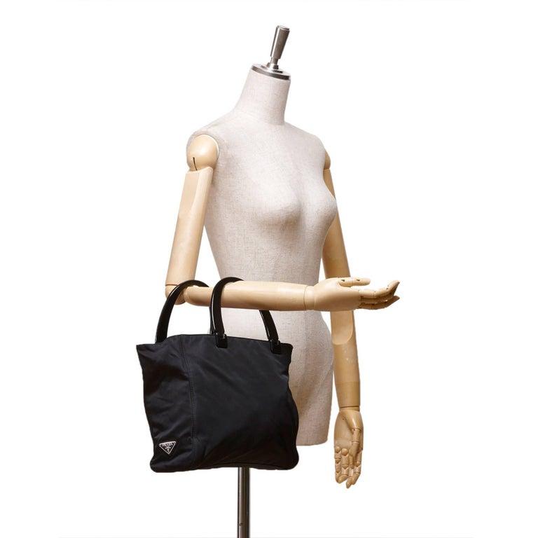 Prada Black Nylon Handbag 8