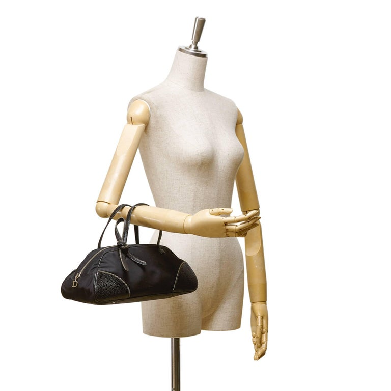 Dior Black Nylon Handbag 8