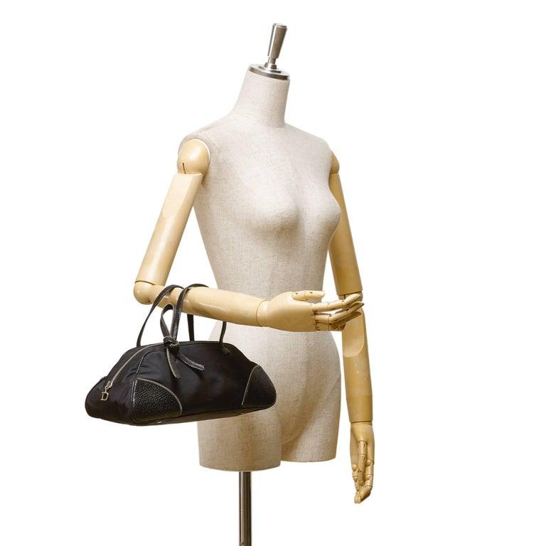 Dior Black Nylon Handbag For Sale 4