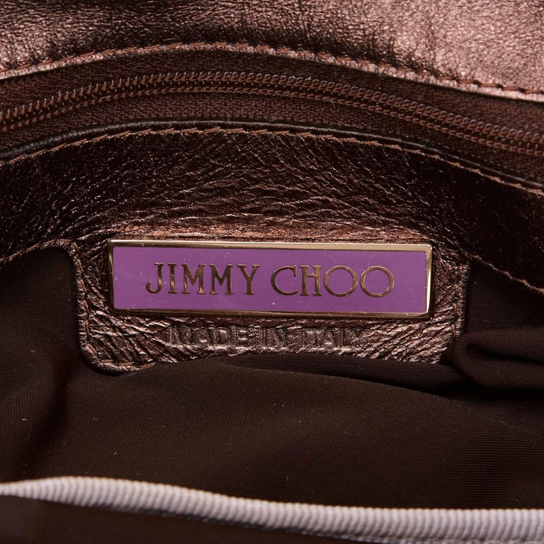 Jimmy Choo Brown Woven Metallic Leather Shoulder Bag 6