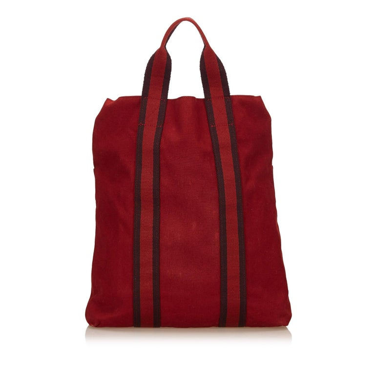 Hermes Red Fourre Tout Cabas 3