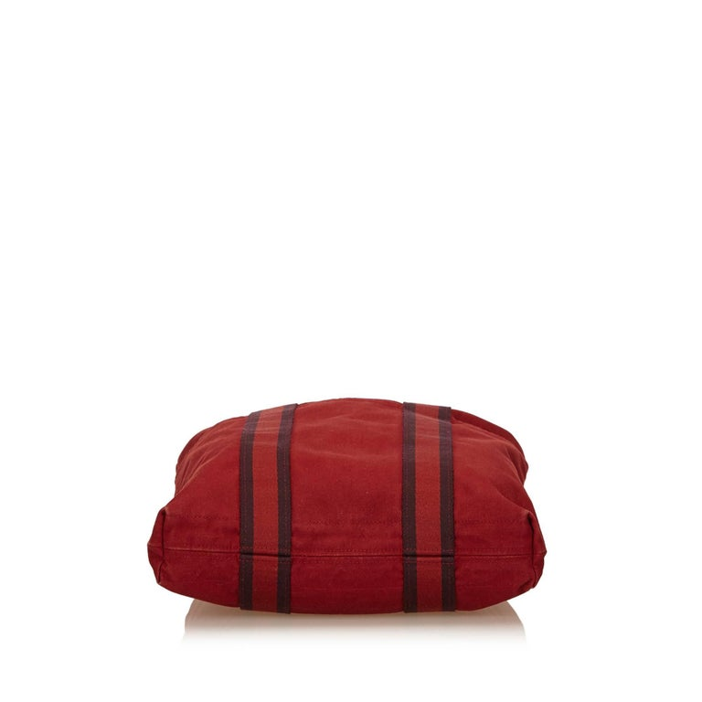 Women's or Men's Hermes Red Fourre Tout Cabas For Sale