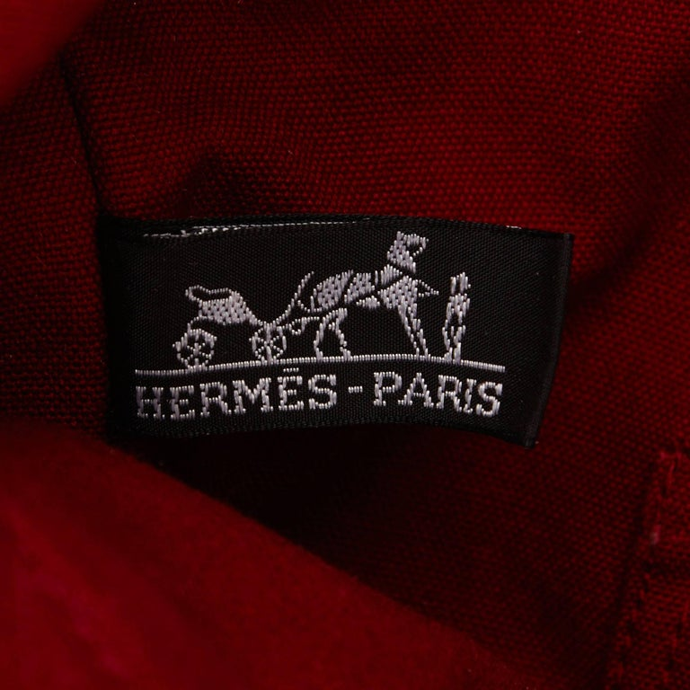 Hermes Red Fourre Tout Cabas For Sale 2