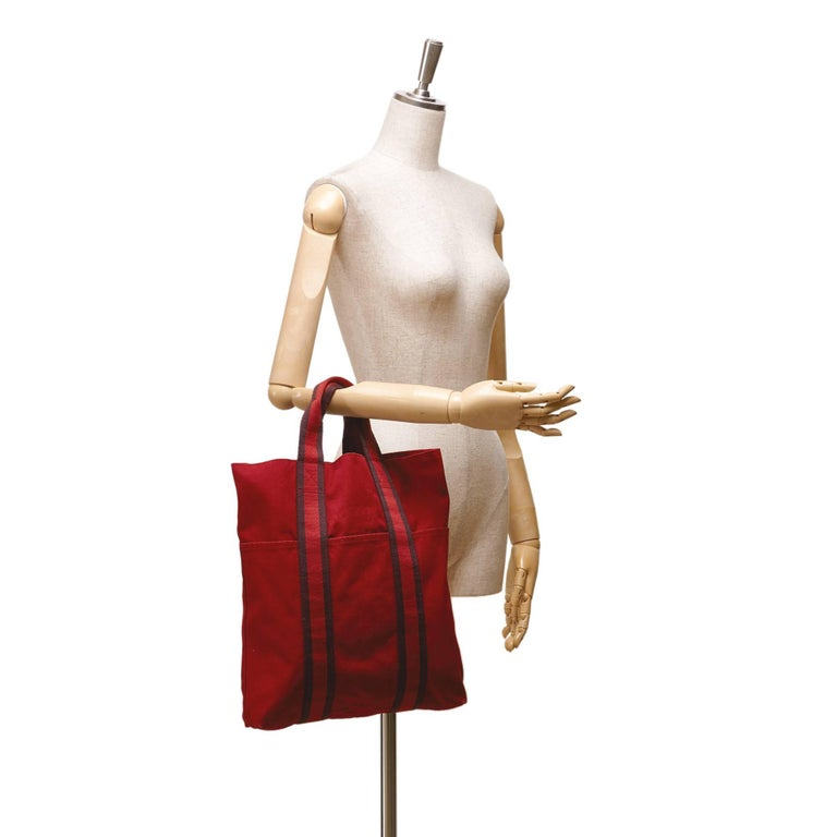 Hermes Red Fourre Tout Cabas For Sale 3