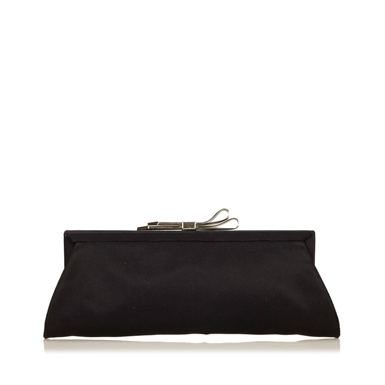 Chloe Black Nylon Clutch In Good Condition For Sale In Orlando, FL