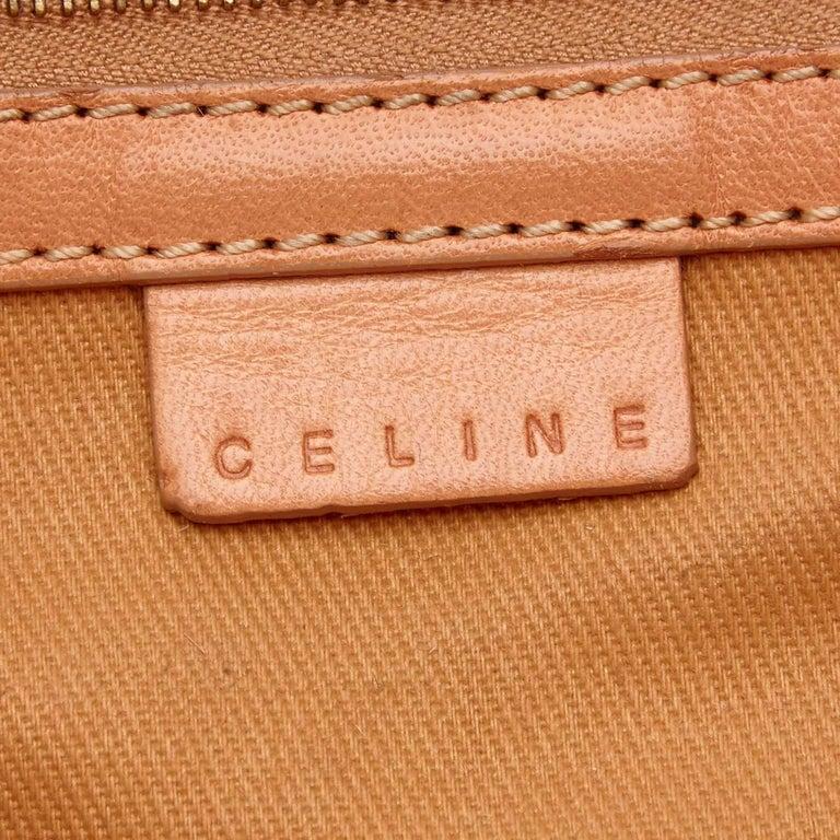 Celine Yellow Macadam PVC Tote For Sale 1