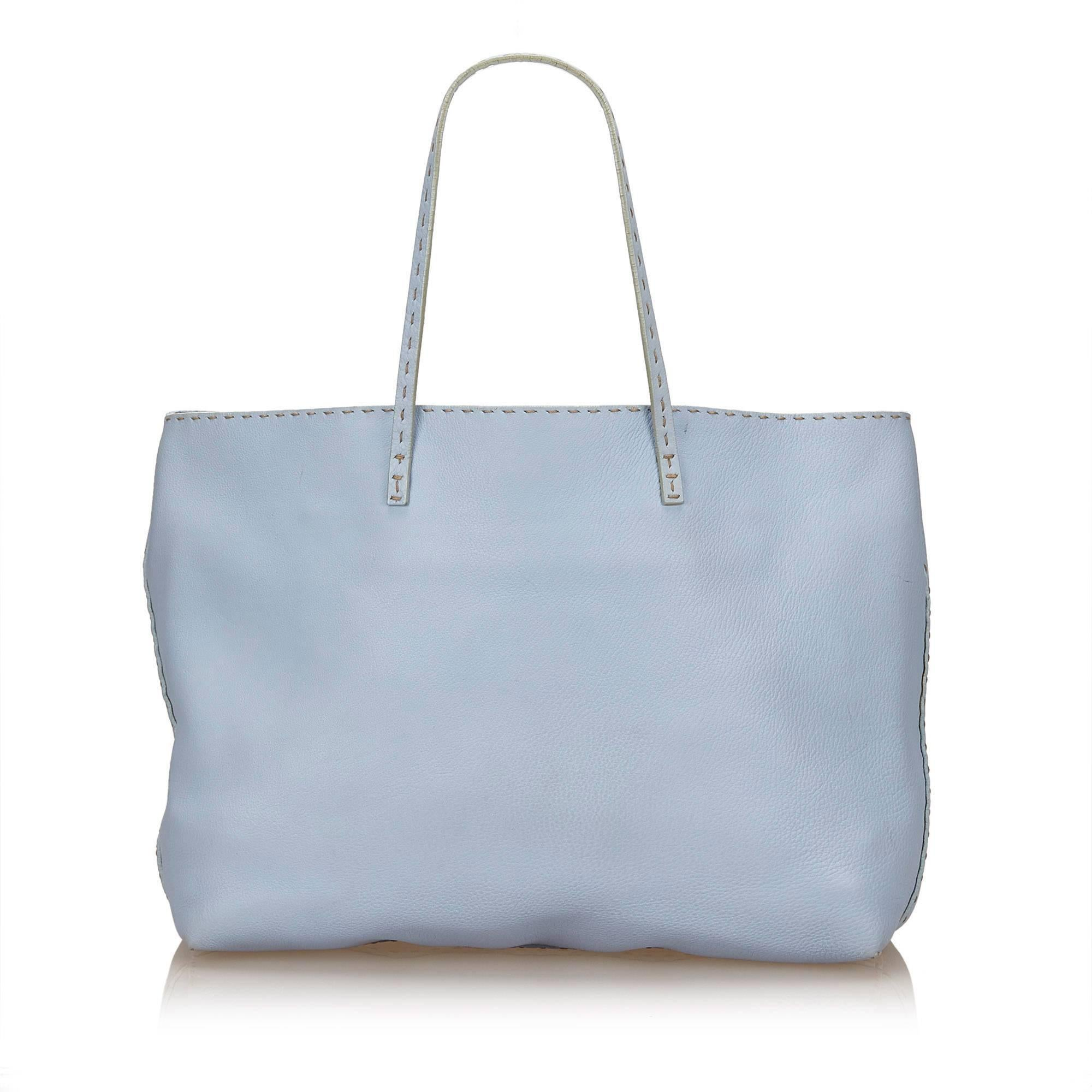dcc4cfc1827a ... where can i buy fendi blue leather selleria tote in good condition for  sale in orlando ...