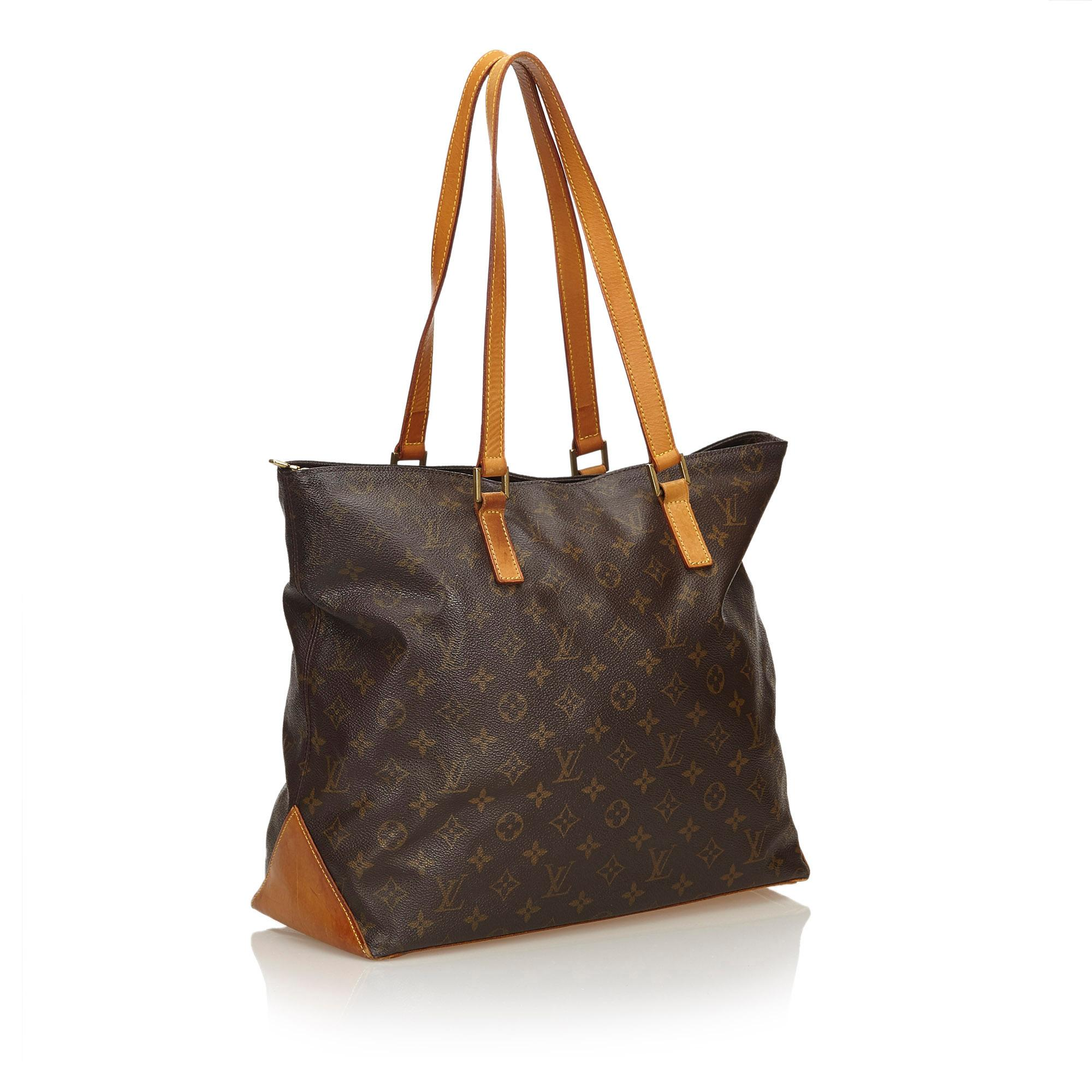 7eb729f6031 Louis Vuitton Brown Monogram Cabas Mezzo