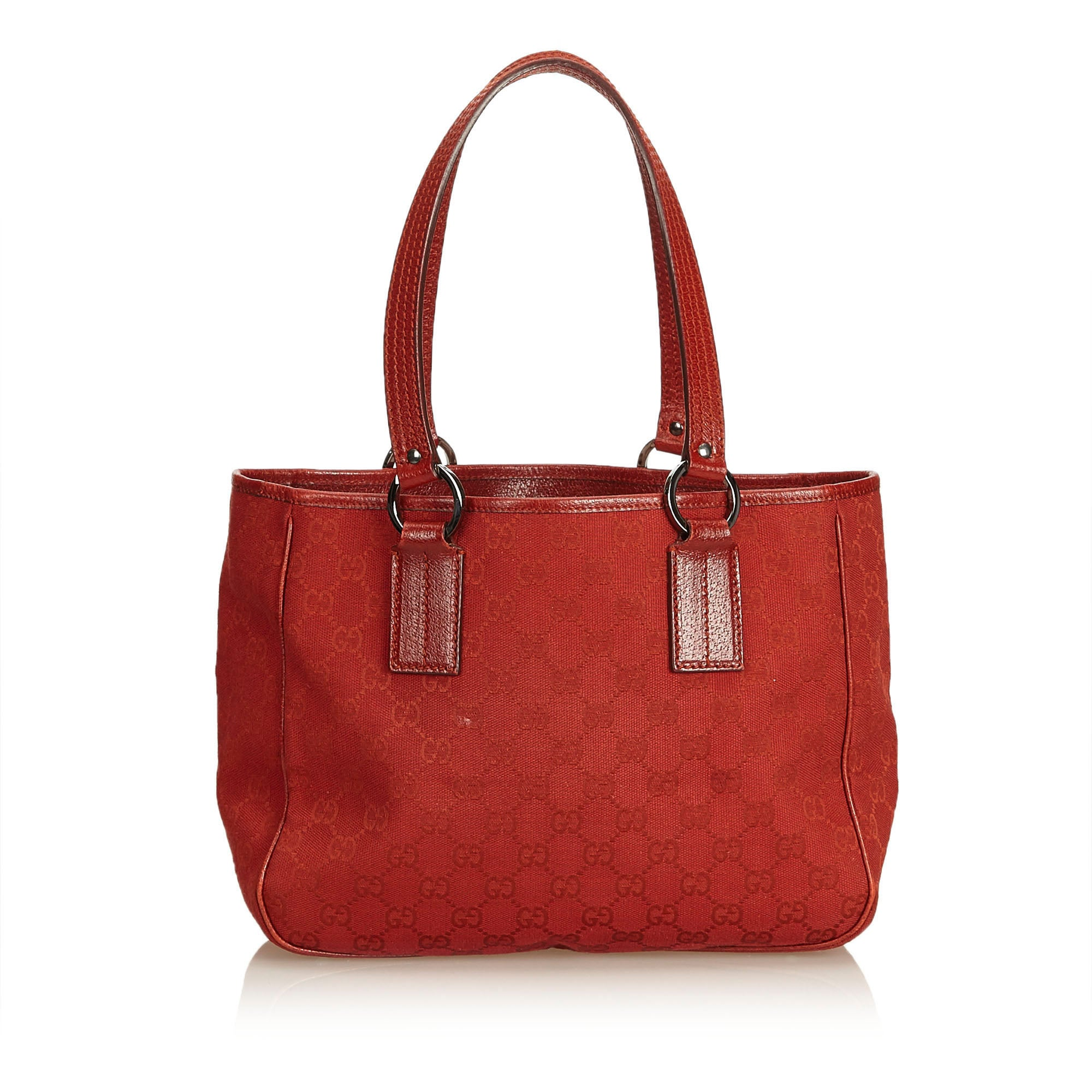 d6162644fef Gucci Red Guccissima Jacquard Tote Bag at 1stdibs