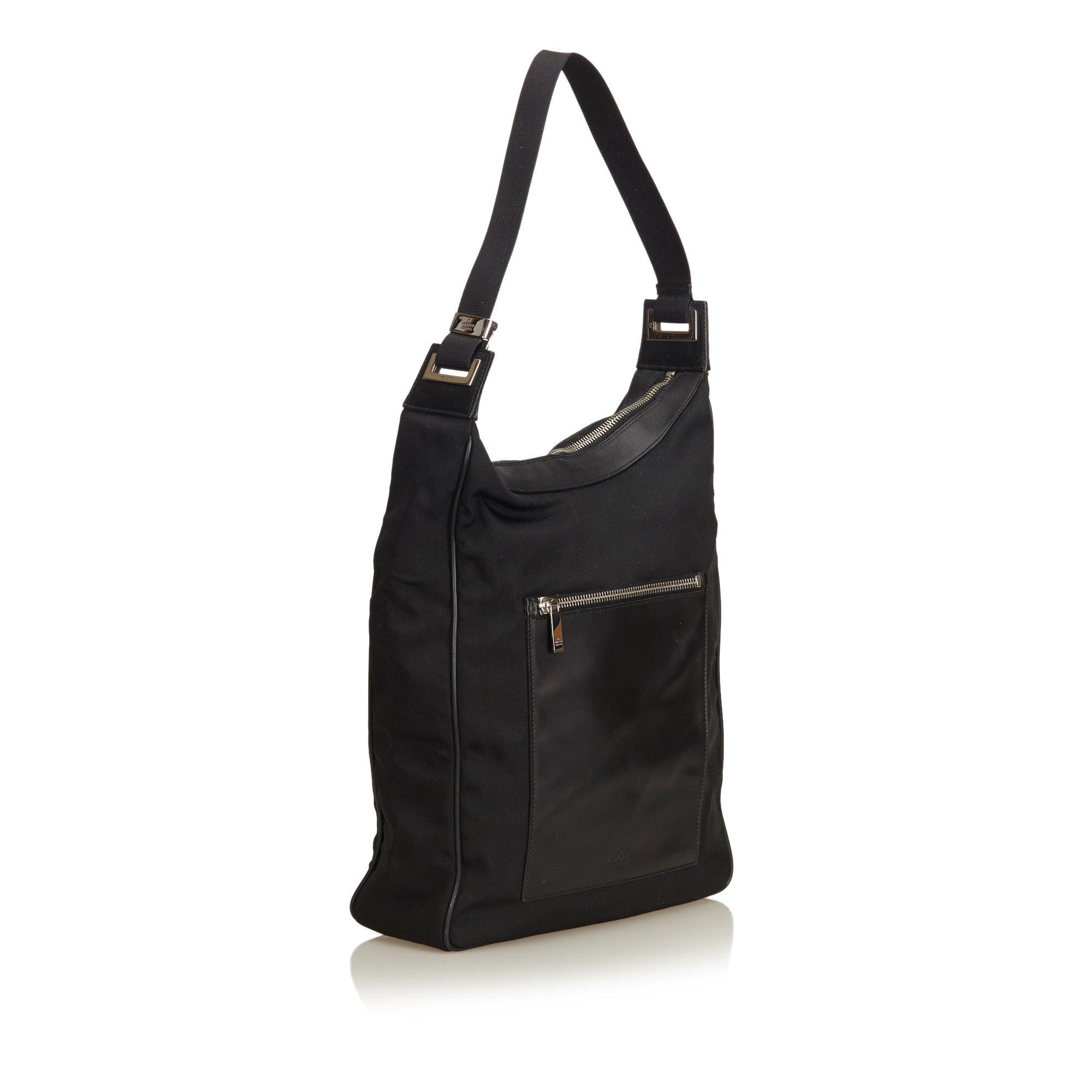 098d27982d08 Gucci Black Nylon Shoulder Bag at 1stdibs