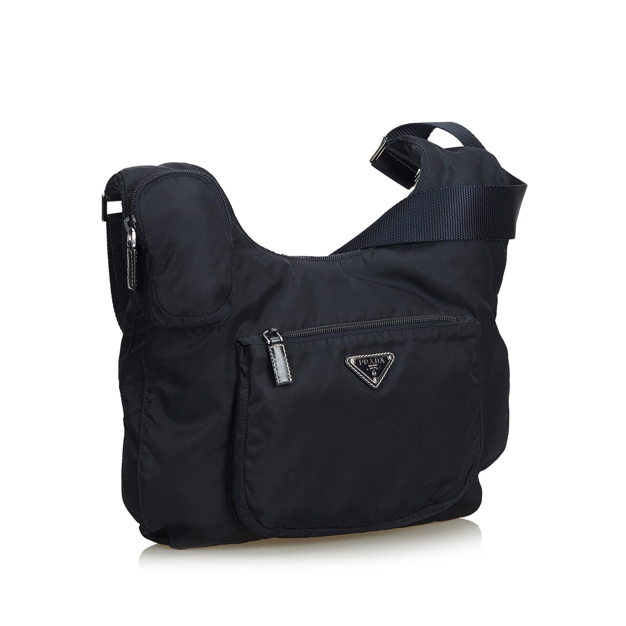 c16952a9f7b435 Prada Black Nylon Crossbody Bag at 1stdibs