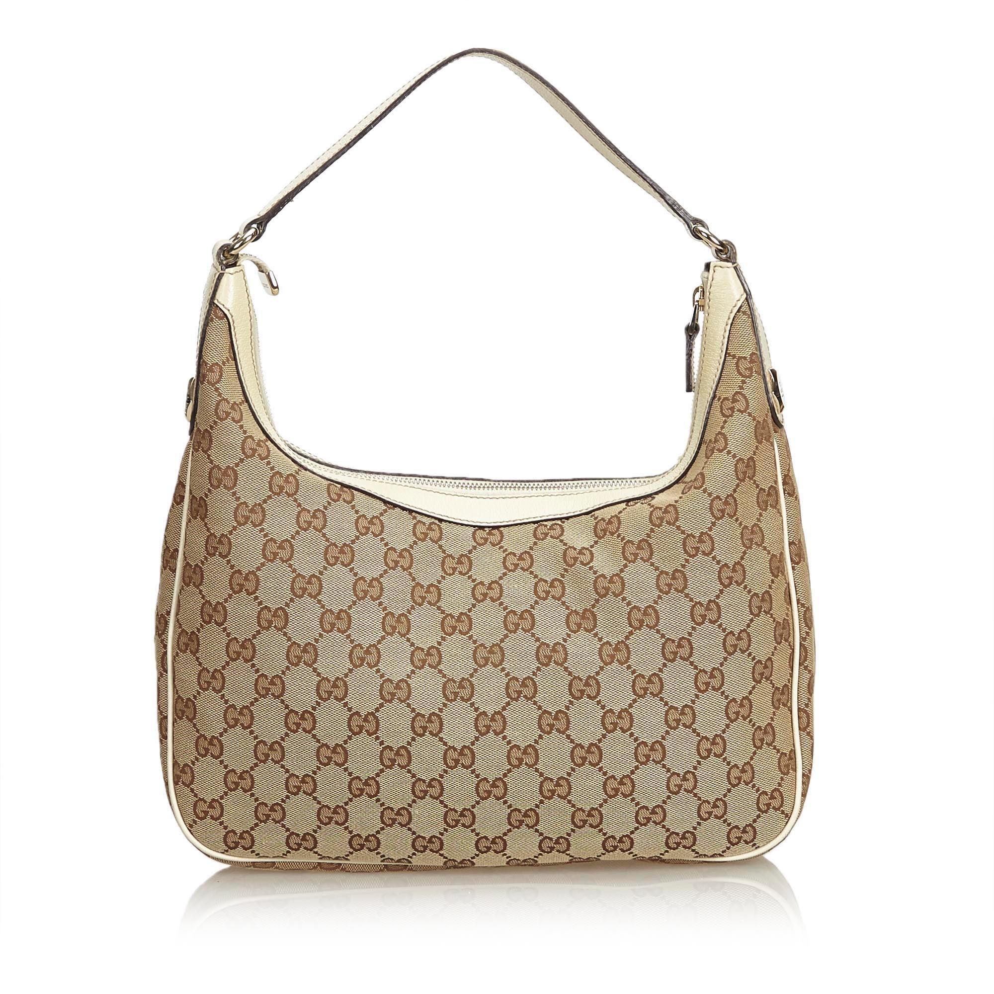 8f3084ff906 Gucci Brown GG Jacquard Hobo Bag at 1stdibs