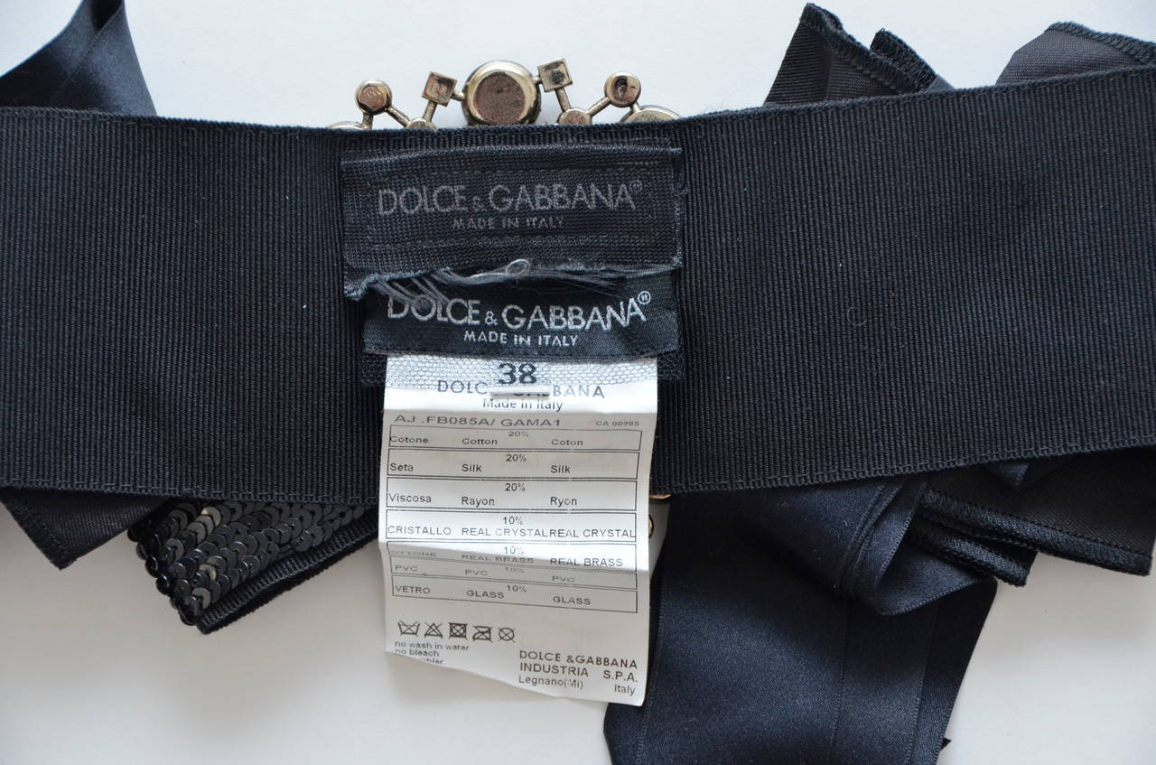 Women's DOLCE & GABBANA Iconic Runway Belt With Swarovski Crystals Mint For Sale