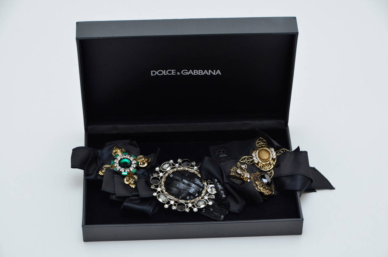 DOLCE & GABBANA Iconic Runway Belt With Swarovski Crystals Mint For Sale 2