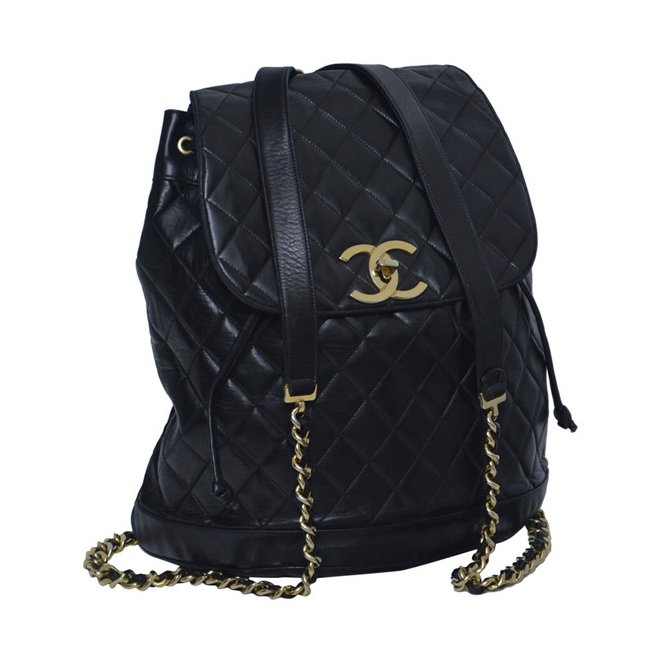 CHANEL Large Size Backpack Vintage at 1stdibs 60c55f4c0b37