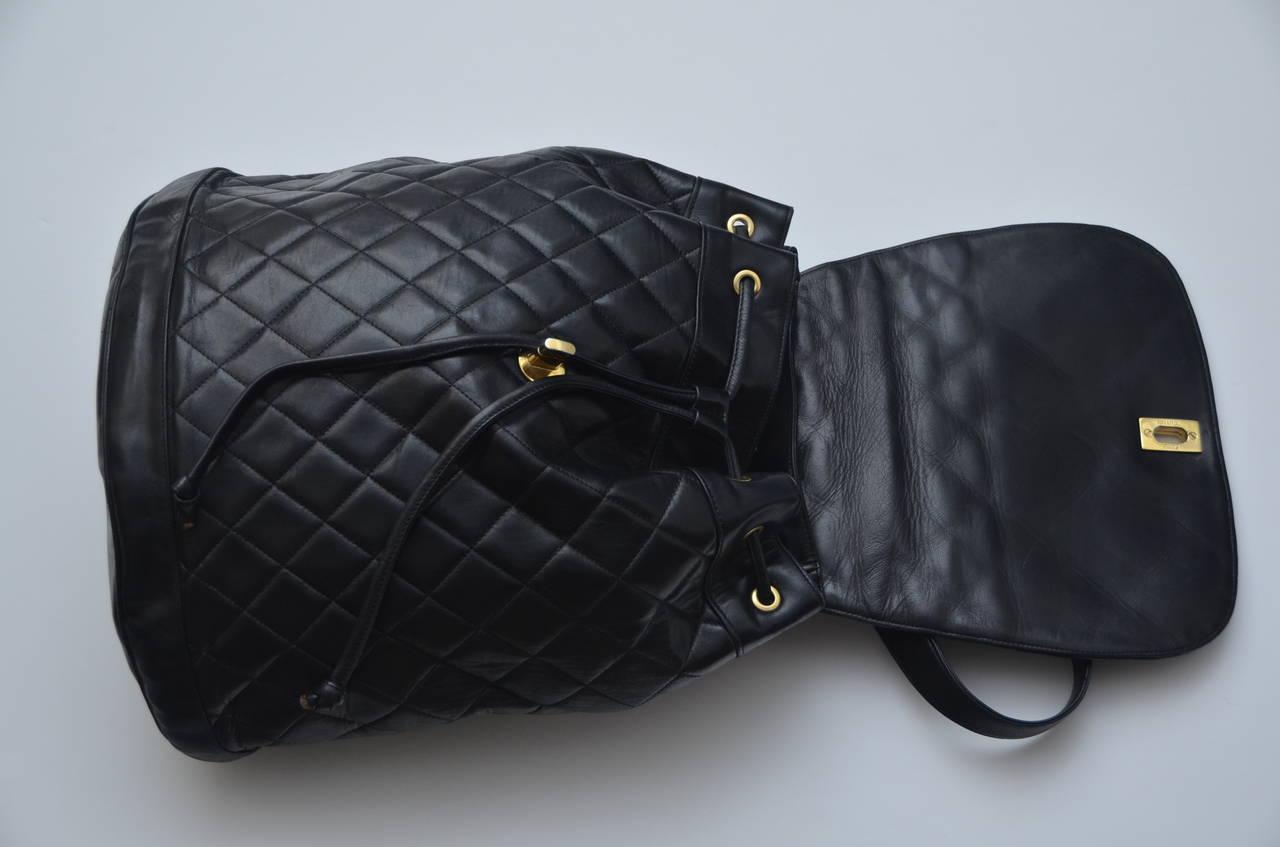CHANEL Large Size Backpack Vintage 6