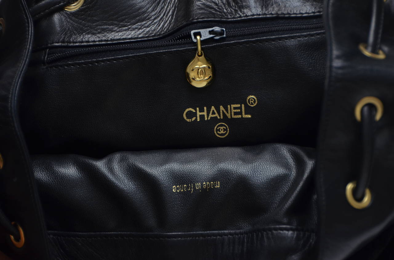 CHANEL Large Size Backpack Vintage 9