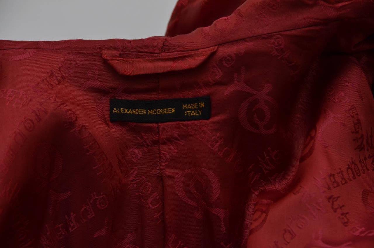 """Alexander McQueen  Cape Coat  Hooded  RUNWAY """"Joan"""" 1998/99 7"""