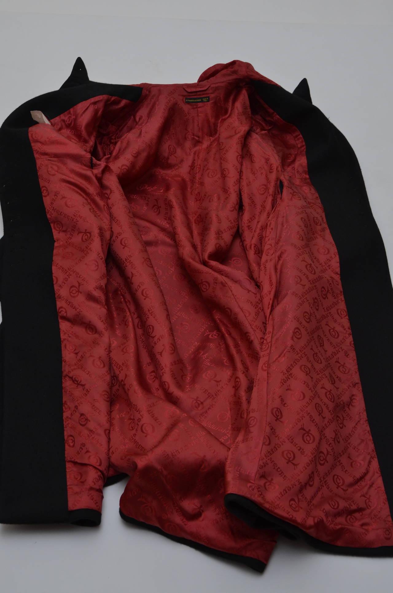"""Alexander McQueen  Cape Coat  Hooded  RUNWAY """"Joan"""" 1998/99 8"""