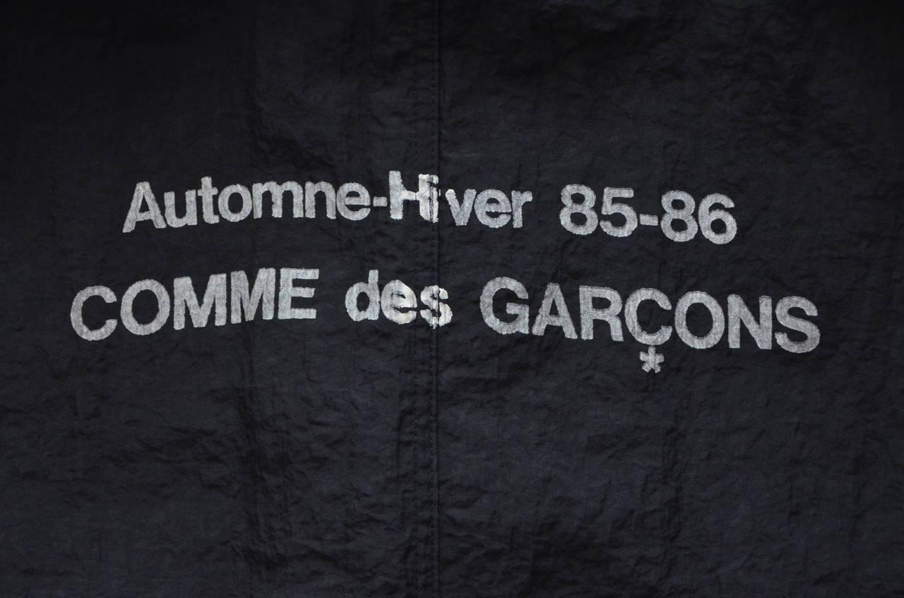"""Comme Des Garcons  """"Stuff"""" Coat Uniform  Automne Hiver 1985/1986 3"""