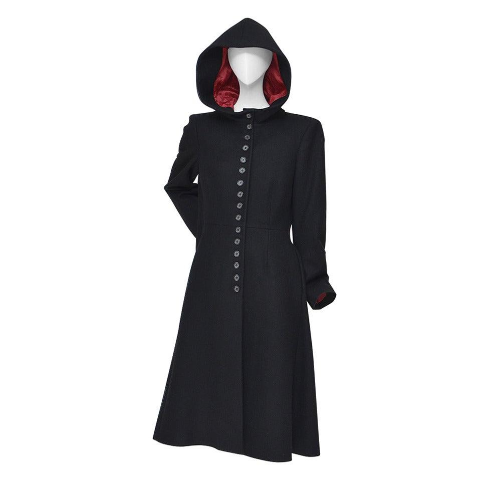 """Alexander McQueen  Cape Coat  Hooded  RUNWAY """"Joan"""" 1998/99 1"""