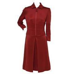 "Chado Ralph Rucci  ""Red  Lipstick"" Zip-front Ponte Dress New"