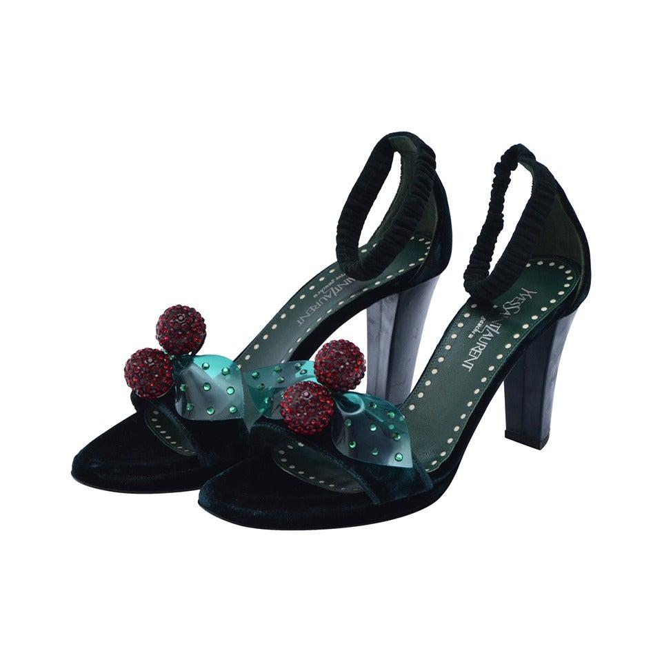 Tom Ford For Yves Saint Laurent Velvet Shoes 37
