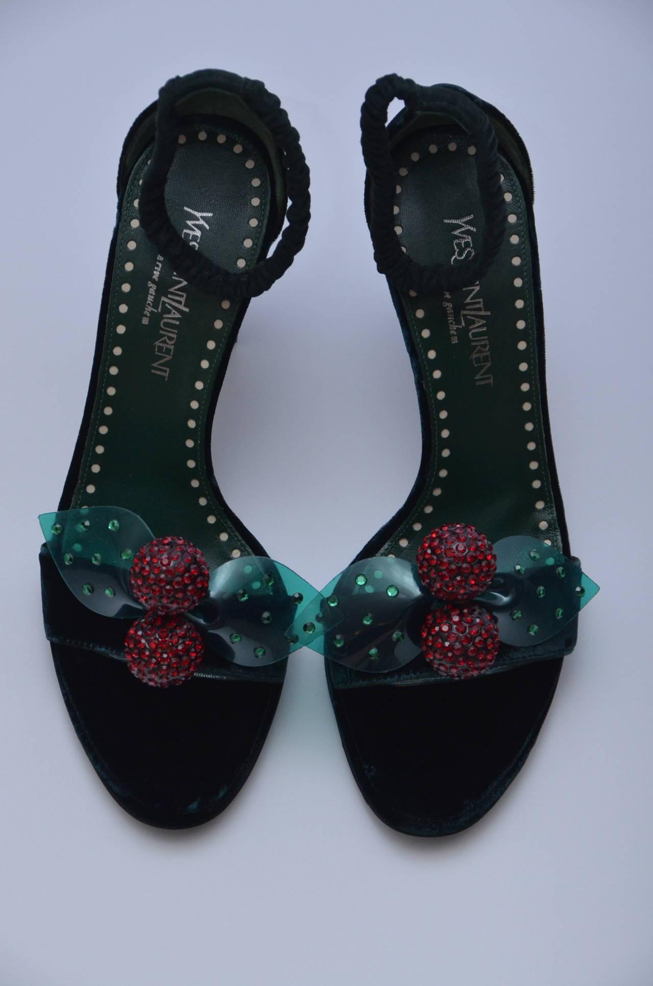Tom Ford For Yves Saint Laurent Velvet Shoes 37 For Sale ...