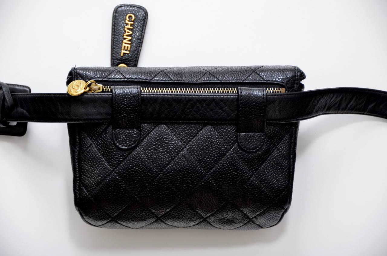 Chanel Vintage Waist Bag Handbag At 1stdibs