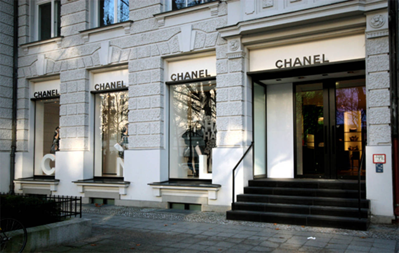 Chanel original boutique store sign at 1stdibs for Chanel locations in paris