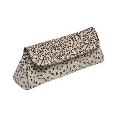 Azzedine Alaia Mini Panther Pony Hair Large Clutch NEW