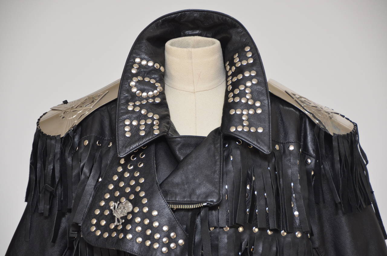 "Jean Paul Gaultier ""LOVE HATE"" Jacket '87/88""Rock Stars"" Seen On Late Pete Burns 5"