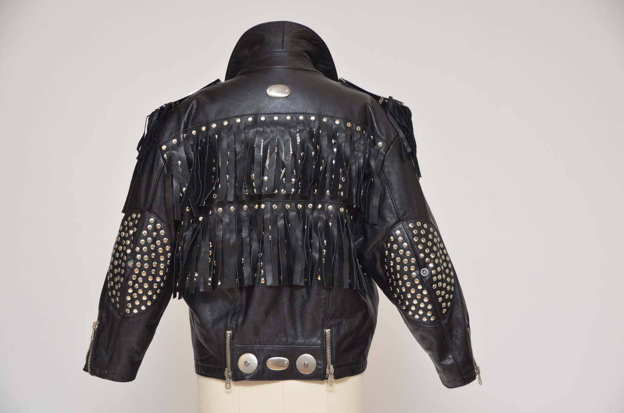 "Jean Paul Gaultier ""LOVE HATE"" Jacket '87/88""Rock Stars"" Seen On Late Pete Burns 4"