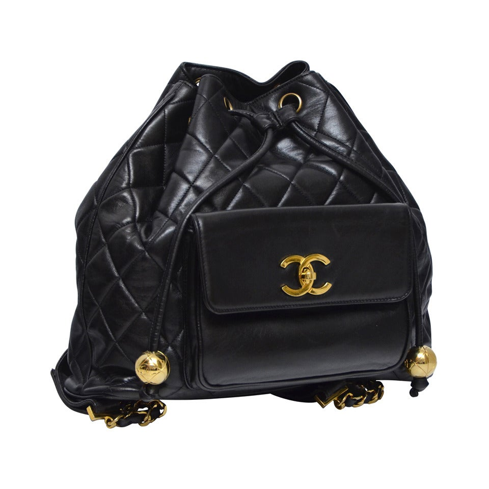 0f3a8b93f537 Chanel Vintage Lambskin Backpack Mint at 1stdibs