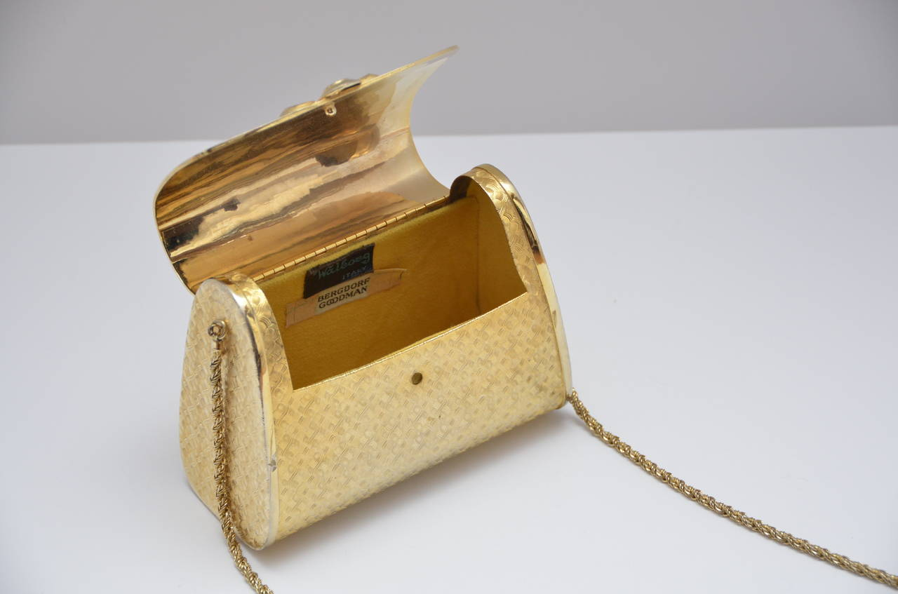 Walborg for Bergdorf Goodman NY gold tone vintage handbag.