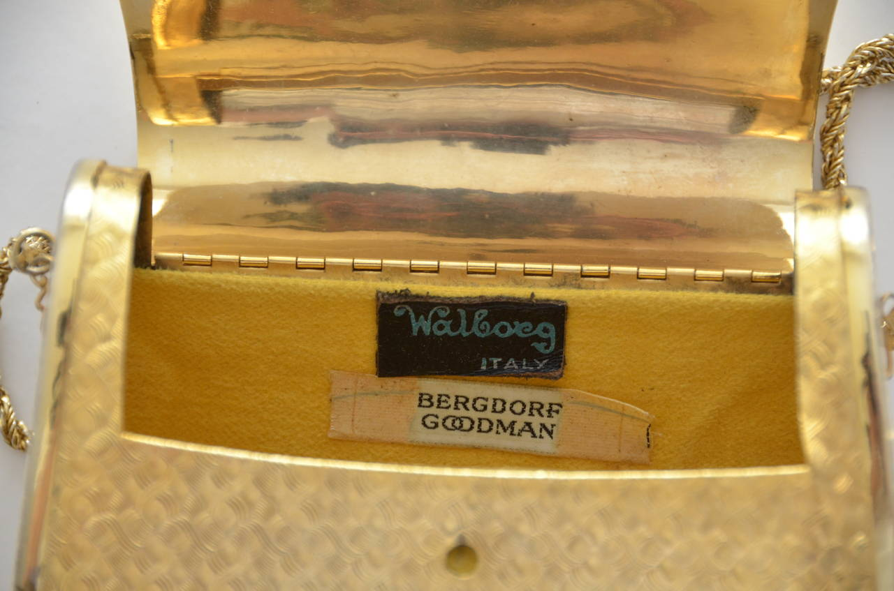 Walborg     Bergdorf Goodman  Mini Metal Handbag In Good Condition For Sale In Hollywood, FL