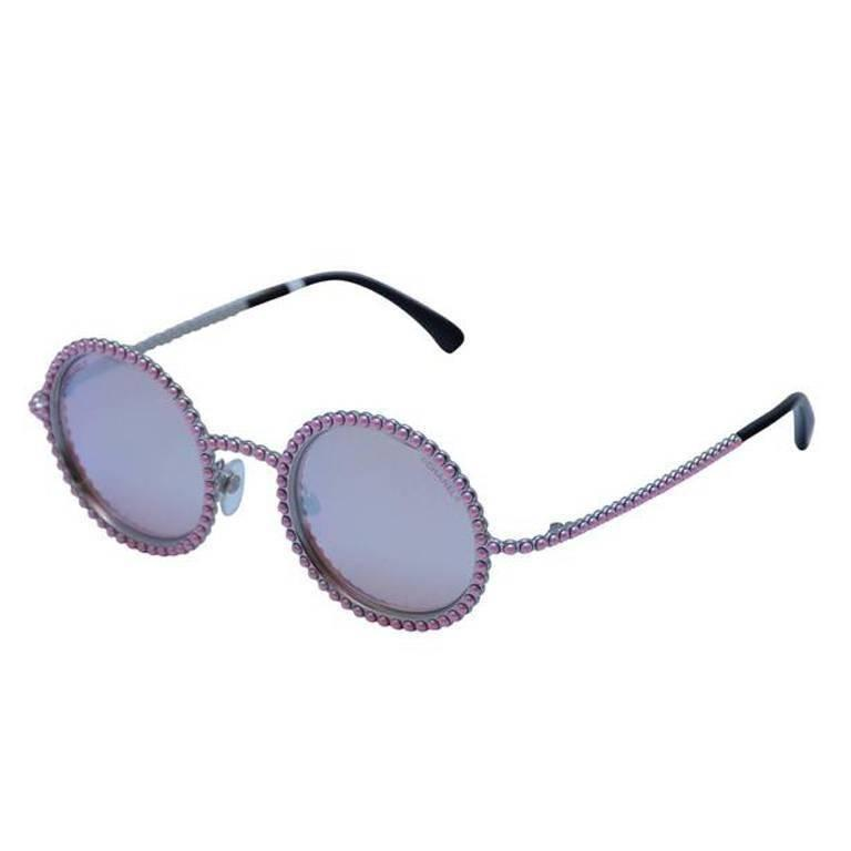 CHANEL PINK PEARL Sunglasses 2016 Limited Ed. Seen On Rose Depp Collector's 1