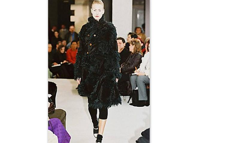 Comme Des Garcons  Faux  Fur Coat  AD '02. Same coat  can be seen at MET museum in New York. Size M.Made in japan.Excellent like new condition. One hidden pocket in the front of the coat  and one on the back (pictured). Faboulos and unique