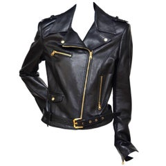 Versace Motorcycle Biker Leather Jacket