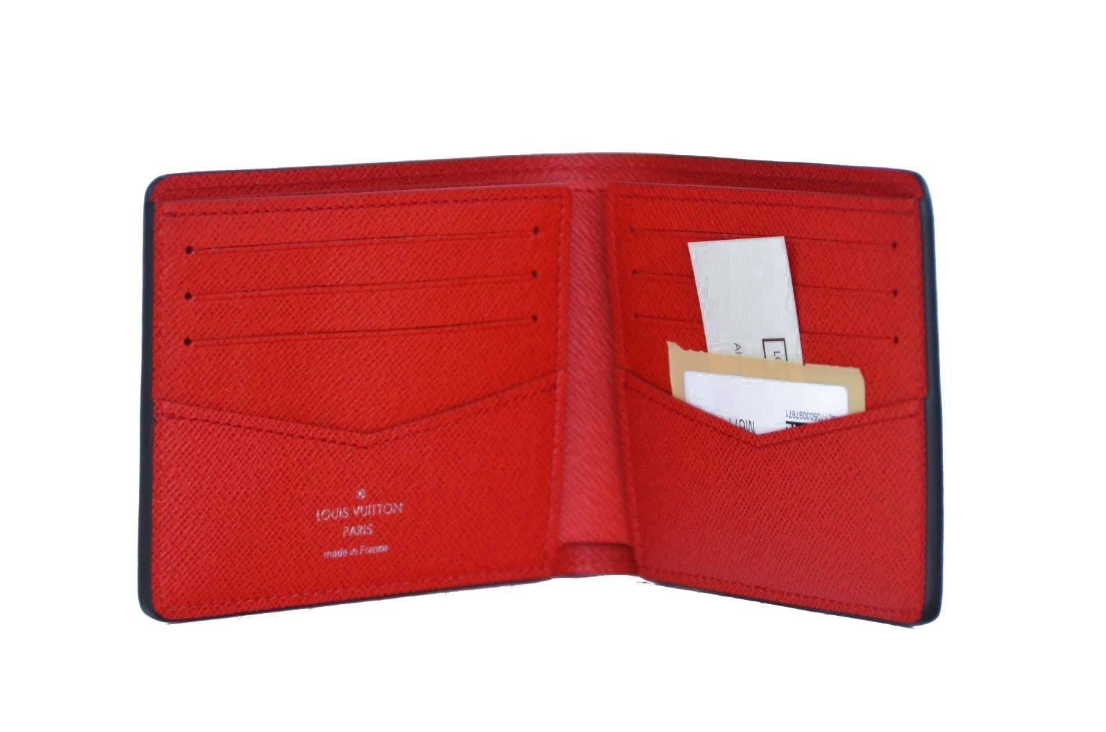 13f978f814c Louis Vuitton x Supreme Slender Red Epi Wallet NEW