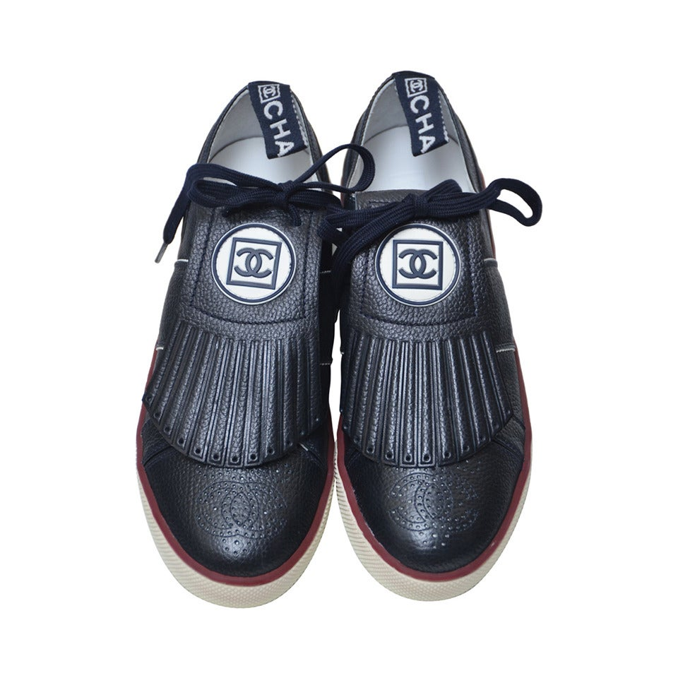 Chanel New Dark Blue  Golf Or Tennis Shoes New 39 1